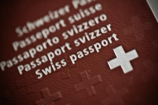 Bild eines biometrischen Schweizer Passes