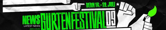 Banner - Gurtenfestival 2009