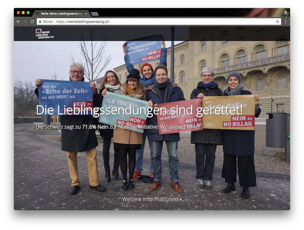 Screenshot - https://meinelieblingssendung.ch/